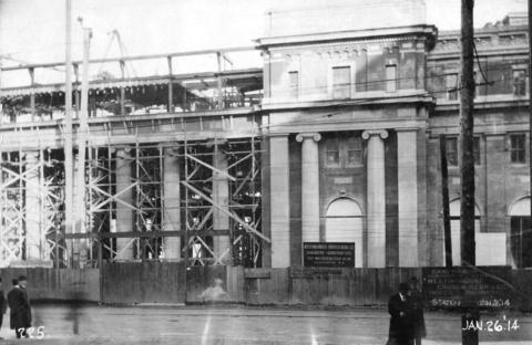 CVA 152-1.206 - [Construction progress photograph of the third CPR station.]