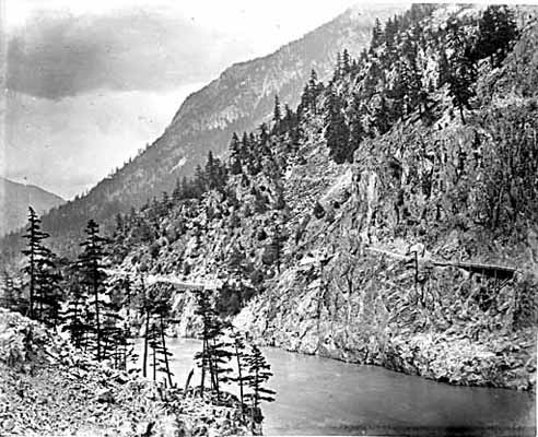 1881, Cariboo Road along the Fraser River