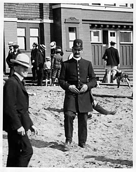 VPL #5393A, Philip Timms, policeman at English Bay